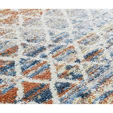amelie ivory dark orange blue area rug