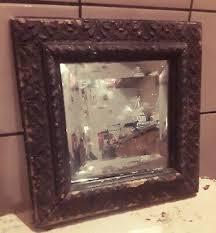 antique beveled glass framed mirror 9