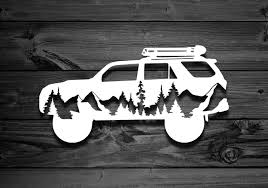 Amazon Com Mountain 4runner Vinyl Decal For Toyotas Explorer Decal Mountain Stickers Stickers For Toyota Decals For Jeeps Decals For Yeti 5th Gen Home Kitchen