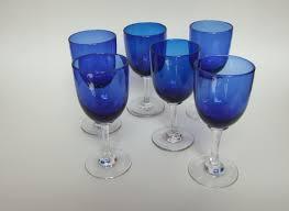 bristol blue wine glasses