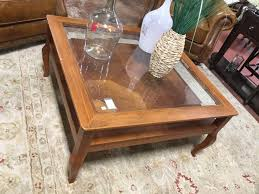 stanley square wood coffee table