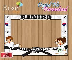 Digital Karate Photo Booth Frame Karate Birthday Karate Party