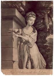 NPG D2578; Polly Harrison ('Miss Polly with her Dove') - Portrait -  National Portrait Gallery