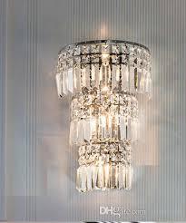 crystal wall lamp living room modern