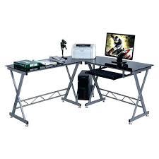 computer desks l shaped glass