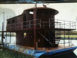 2010 homemade houseboat house boat for