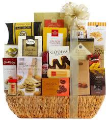 grand gourmet gift basket wine
