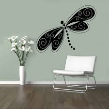 Beautiful Dragonfly Vinyl Decal Flying Adder Wall Sticker Insects Home Interior Living Room Removable Decor 5 Dfl Living Room Interior House Interior Interior