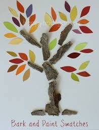 bark and paint swatch trees - happy hooligans - fall tree art for ...