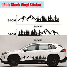 Tree Mountain Car Decal Forest Vinyl Graphic Sticker For Camper Rv Trailer Truck Ebay