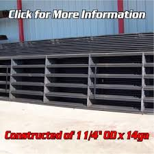 6 Bar Continuous Fence Panel 4 X 20 Wheeler Metals