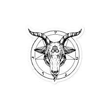 Baphomet Lucifer Satan Satanist Satanic Occult Leviathan Cross Etsy