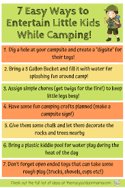 11 Easy Camping Activities And Ideas For Kids That Are Cheap And Fun The Crazy Outdoor Mama