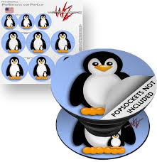 Decal Style Vinyl Skin Wrap 3 Pack For Popsockets Penguins On Blue Popsocket Not Included By Wraptorskinz Walmart Com Walmart Com