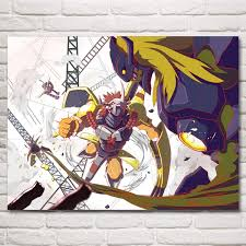 Unframed Printed Poster Digimon 1999 Wargreymon Angewomon Adventure Family Anime Canvas Oil Art Painting Home Wall Decal Zy68 Wish