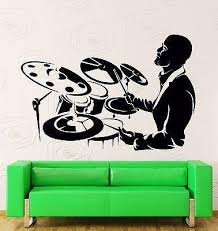 Wall Stickers Vinyl Decal Drum Music Band Rock Rock N Roll Decor Uniqu Wallstickers4you