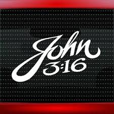 John 3 16 Christian Car Decal Truck Window Vinyl Sticker Jesus 20 Colors Ebay