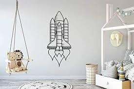 Amazon Com Wall Vinyl Sticker Rocket Space Flight Boy Kids Room Car Mural Decal Art Decor Lp3099 Handmade