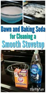 baking soda to clean a smooth top range