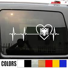 Love Albania Double Headed Eagle Decal Sticker Car Vinyl Heart Beat Ekg Buy At The Price Of 6 00 In Aliexpress Com Imall Com