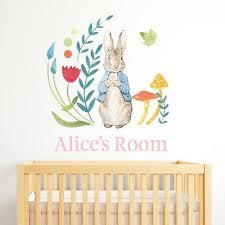 Official Peter Rabbit Hush Little Bunny Wall Sticker Mural Sfhs Org