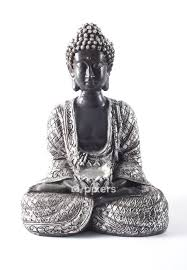Black Buddha Statue Isolated On White Wall Decal Pixers We Live To Change