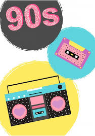 90s Poster With Boombox Wall Decal Wallmonkeys Com