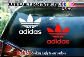 Adidas Logo Sticker Car Window Laptop Or Wall Decal 57 Ebay