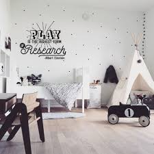 Play Is The Highest Form Of Research Einstein Quote Kids Wall Decal Scandinavian Kids Rooms White Kids Room Kids Bedroom Designs