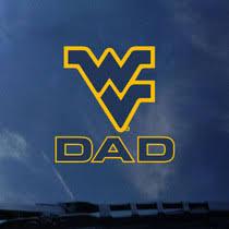 Wvu Dad Wv Logo Decal