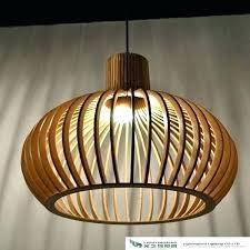 wooden pendant lights