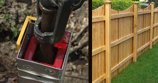 How To Easily Install A Fence Post Near Or Next To Your House With A Post Hole Digger Tool Ozco Building Products