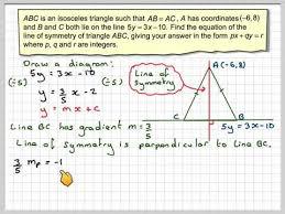 of symmetry of an isosceles triangle