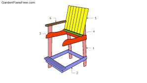 bar height adirondack chair free diy