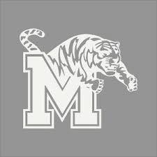 Memphis Tigers College Logo 1c Vinyl Decal Sticker Car Window Wall Ebay