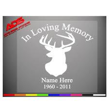 In Loving Memory Of Deer Vinyl Decal Sticker Hunting Buck Car Etsy