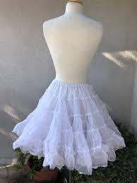 Vintage Nita Smith white petticoat 2 layer silver metallic   Etsy