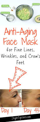 anti aging face mask for fine lines