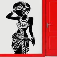 Mega Sale 1a737 Tribal African Woman Decal Beautiful Afro Girl Dress Wall Sticker Home Decor Art Design Mural Interior House Wallpaper 3236 Zk Posto5 Co