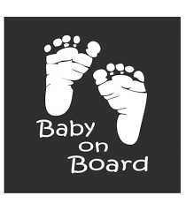 Baby Footprint Car Decal Baby On Board Mommy Must Haves
