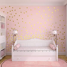 Wallpops Metallic Effect Rose Gold 64 Sticky Dots Bedrooms Wall Decals Stickers