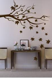 Maple Tree Branch In Autumn Wall Decal 32 Colors Metallics Walltat Com