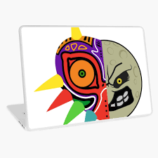 Majora S Mask And The Moon Vector Laptop Skin By Bionui123 Redbubble