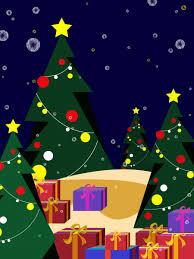 شجرة عيد الميلاد نجوم خلفية الهدايا رسوم متحركة الميلاد خلفية