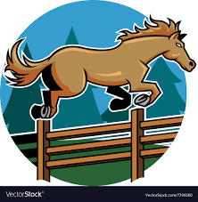 Horse Jump Ranch Fence Royalty Free Vector Image