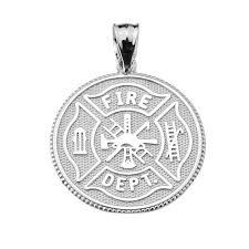firefighter maltese cross pendant