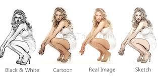 convert photos into cartoon and sketch