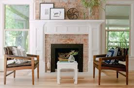 fireplace mantle eclectic living