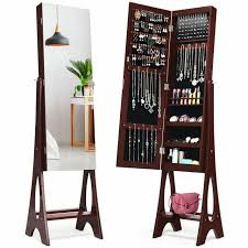 beautify mirrored jewelry armoire with