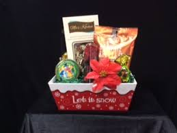 let it snow gift baskets by design